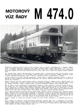 motorový vůz řady m 474.0