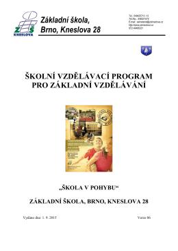 ŠVP ZŠ Kneslova 28 verze 06