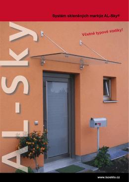 Systém skleněných markýz AL-Sky®