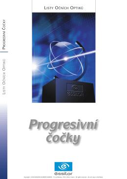 Progresivní čočky - koncept, historie a výroba