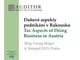 Prezentace AUDITOR - Advantage Austria