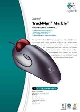 Datasheet Logitech TrackMan Marble USB english