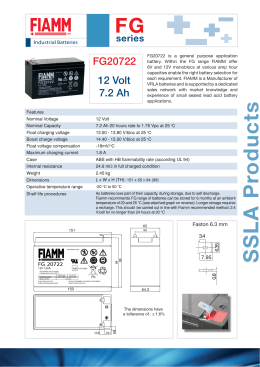 pdf specsheet - National Battery