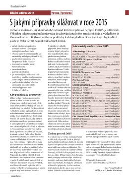 Silážní přípravky, Krmivářství 2/2015