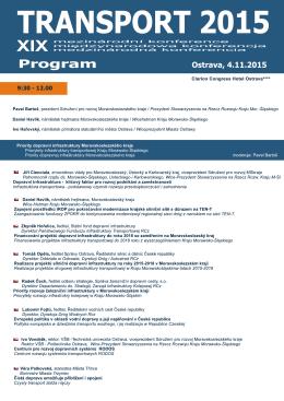 TRANSPORT 2015 - Mezinárodní konference | TRANSPORT