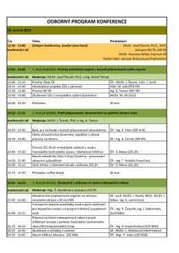 program konference 2015