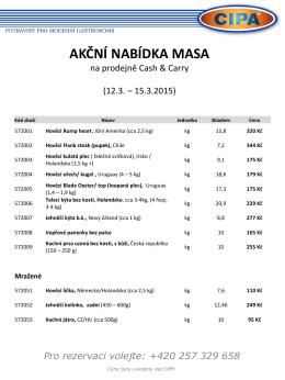 Ideální tipy na denní menu - kvalitní maso od firmy CIPA