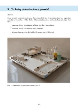 3 Techniky dekontaminace povrchů