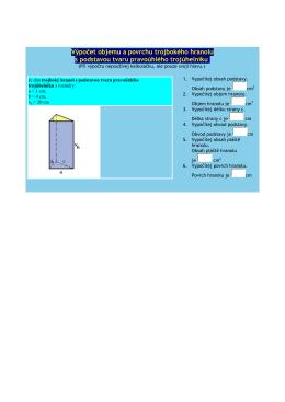 Výpočet objemu a povrchu trojbokého hranolu