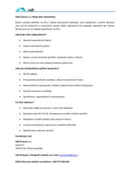 Správa Aktiv a Bankovní Poradenství a