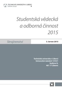 Studentská vědecká a odborná činnost 2015 - SVOČ