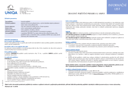 Informační list - úrazové pojištění PROGRES II, SIMPLY