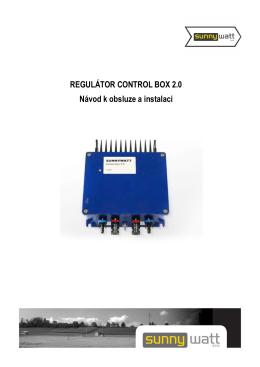 REGULÁTOR CONTROL BOX 2.0 Návod k obsluze a