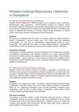 Wiejskie Centrum Wypoczynku i Rekreacji w Chałupkach