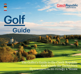 The Golfer`s Guide to the Czech Republic Golf