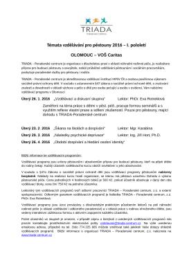 Vzdělávání pro pěstouny, Olomouc 2016