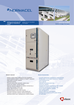 Divize VN rozváděčů Medium Voltage Switchgear