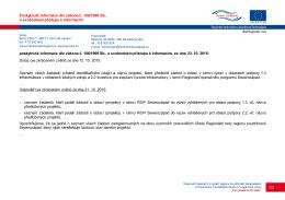 Poskytnutá informace dle zákona č. 106/1999 Sb., o svobodném