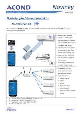 možnost vzdáleného ovládání klimatizací pomocí mobilu