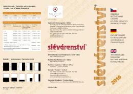 Ediční plán 2016 - Časopis SLÉVÁRENSTVÍ