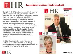 Mediakit časopisu Profi HR