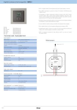 Digitální pokojový termoregulátor IDRT3-1