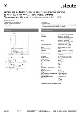 Produktový list - steute Schaltgeräte