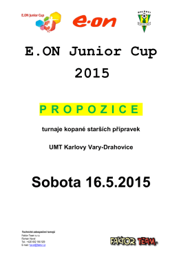 E.ON Junior Cup 2015 Sobota 16.5.2015
