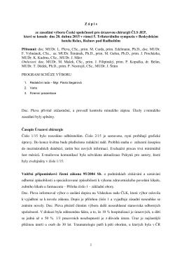 Zápis ze dne 28. duna 2015 - Česká společnost pro úrazovou