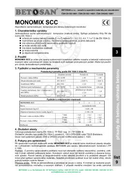 BETOSAN TL 3-9 Monomix SCC