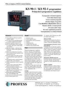 KS 90-1 / KS 92-1 programátor Průmyslové programové regulátory
