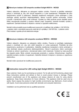 EN Instruction manual for LED ceiling light - SOLIGHT E-shop
