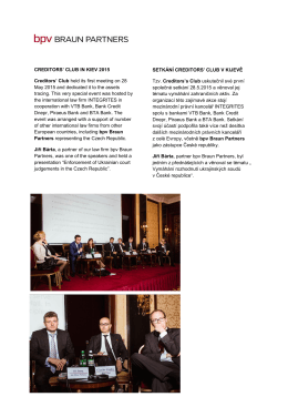 Setkání Creditors\` Club v Kijevě 2015