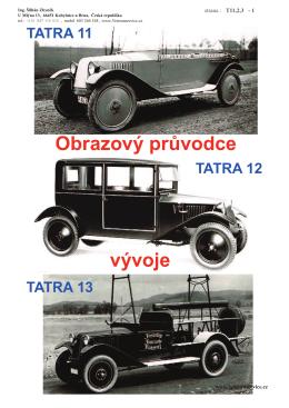Tatra 11, 12 – obrazový průvodce vývoje