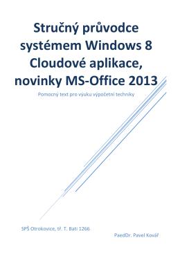 Stručný průvodce systémem Windows 8 Cloudové