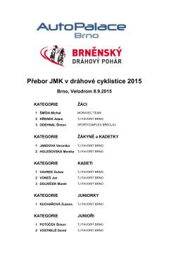 Přebor JMK v dráhové cyklistice 2015