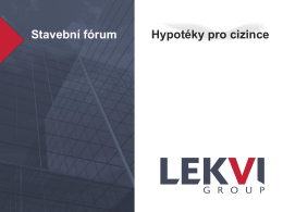 Stavební fórum Hypotéky pro cizince