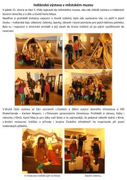 Indiánská výstava v městském muzeu