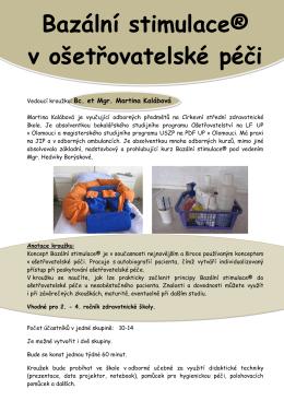 Bazální stimulace® v ošetřovatelské péči