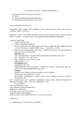 základní charakteristiky A) Poezie (Siciliani - pavel
