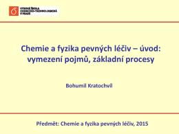 1. Úvodní přednáška - Ústav chemie pevných látek