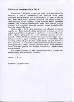 Nečtinské memorandum 2015