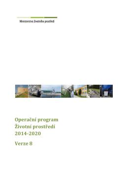 Text 8. verze OPŽP pro programové období 2014