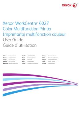 Xerox WorkCentre 6027NI uživatelská příručka