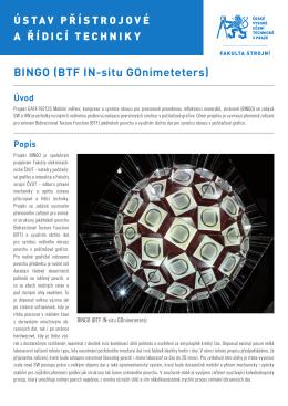 BINGO (BTF IN-situ GOnimeteters) Úvod
