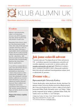 číslo 1/2016  - Informační, poradenské a sociální