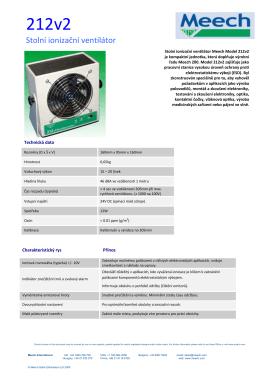 Stolní ionizační ventilátor