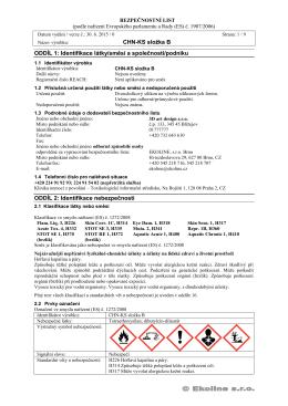 CHN-KS složka B ODDÍL 1 - Formovací silikony | LevneSilikony.cz