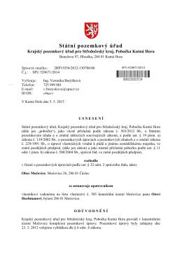 Úřední deska Usnesení o ustanovení opatrovníka