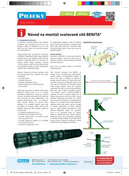 Návod na montáž svařované sítě BENITA®